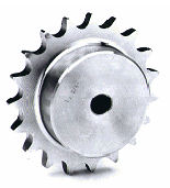 3SR18 06B-1 18T Simplex Pilot Bore Sprocket Stainless